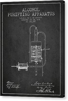 1874 Alcohol Purifying Apparatus Patent Fb77_cg Canvas Print by Aged Pixel