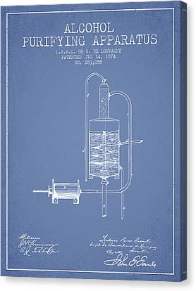 1874 Alcohol Purifying Apparatus Patent Fb77_lb Canvas Print by Aged Pixel