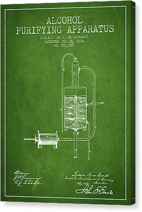 1874 Alcohol Purifying Apparatus Patent Fb77_pg Canvas Print by Aged Pixel