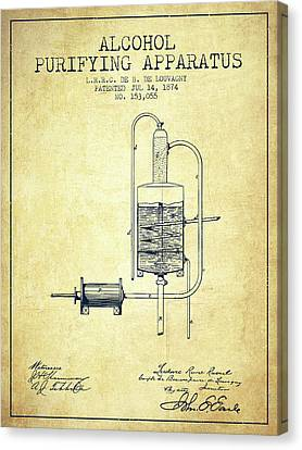1874 Alcohol Purifying Apparatus Patent Fb77_vn Canvas Print by Aged Pixel