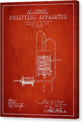 1874 Alcohol Purifying Apparatus Patent Fb77_vr Canvas Print by Aged Pixel