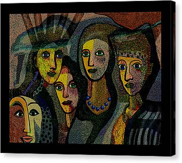 1874- The Scared Ones 2017 Canvas Print by Irmgard Schoendorf Welch
