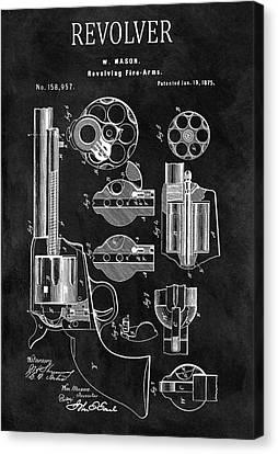 1875 Revolver Gun Patent Canvas Print by Dan Sproul