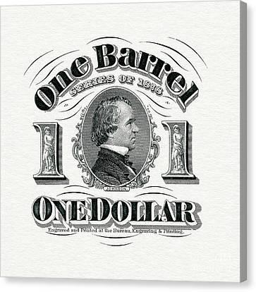 1878 Beer Barrel Tax Stamp Canvas Print