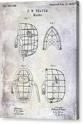 1878 Catchers Mask Patent Canvas Print by Jon Neidert