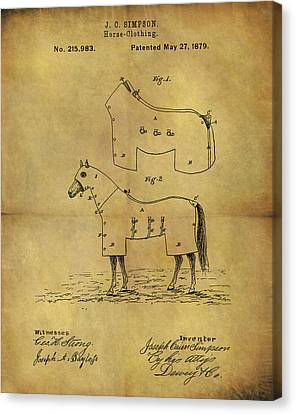 1879 Horse Coat Patent Canvas Print by Dan Sproul