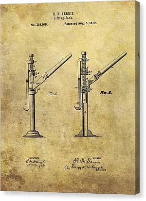 1879 Lifting Jack Patent Canvas Print by Dan Sproul