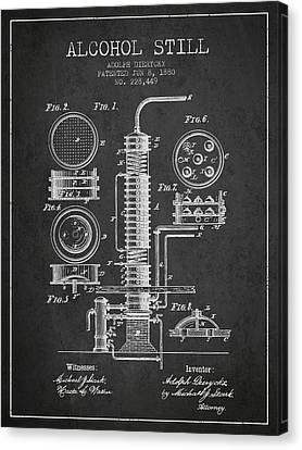 1880 Alcohol Still Patent Fb81_cg Canvas Print by Aged Pixel