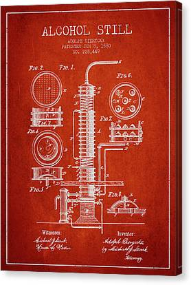 1880 Alcohol Still Patent Fb81_vr Canvas Print by Aged Pixel