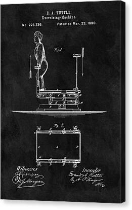 Nike Canvas Print - 1880 Exercise Apparatus Patent Illustration by Dan Sproul