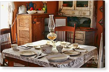 1880 Table Setting  8381 Canvas Print by Jack Schultz
