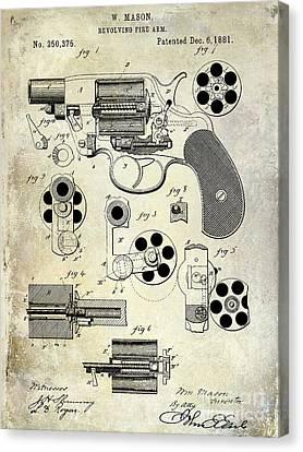1881 Revolver Patent  Canvas Print