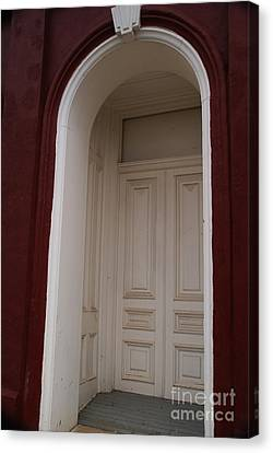 Panel Door Canvas Print - 1882 by Linda Shafer