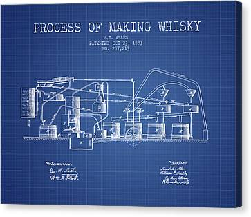 1883 Process Of Making Whisky Patent Fb76_bp Canvas Print by Aged Pixel