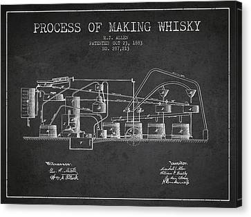 1883 Process Of Making Whisky Patent Fb76_cg Canvas Print by Aged Pixel