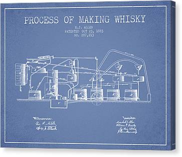 1883 Process Of Making Whisky Patent Fb76_lb Canvas Print by Aged Pixel
