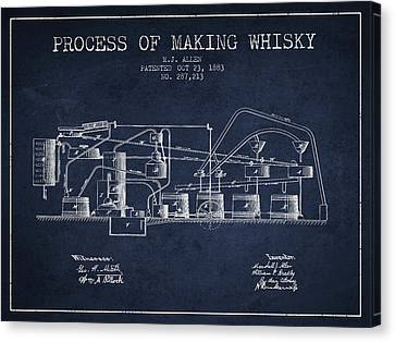 1883 Process Of Making Whisky Patent Fb76_nb Canvas Print by Aged Pixel