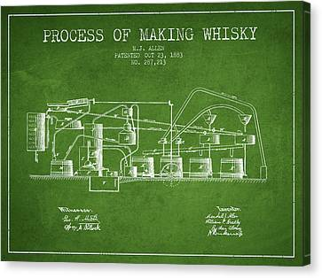 1883 Process Of Making Whisky Patent Fb76_pg Canvas Print by Aged Pixel