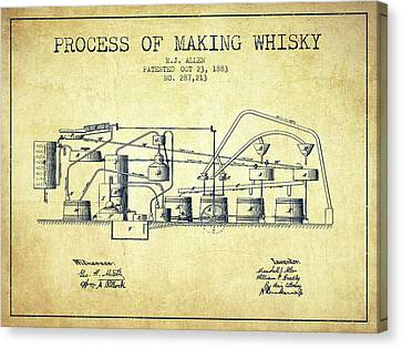 1883 Process Of Making Whisky Patent Fb76_vn Canvas Print by Aged Pixel