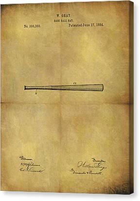 1884 Baseball Bat Illustration Canvas Print by Dan Sproul