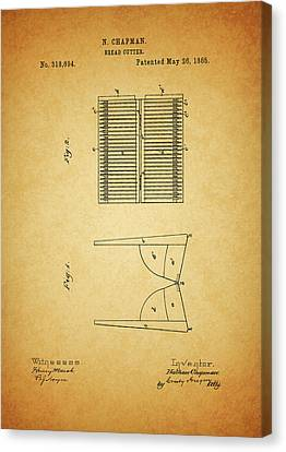 Culinary Canvas Print - 1885 Bread Slicer Patent by Dan Sproul