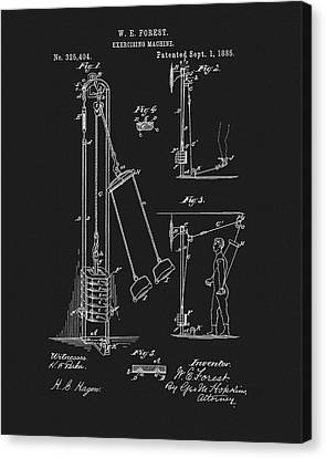 1885 Exercise Apparatus Canvas Print by Dan Sproul