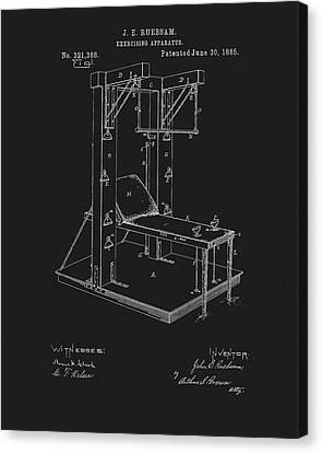 1885 Exercise Apparatus Equipment Canvas Print by Dan Sproul