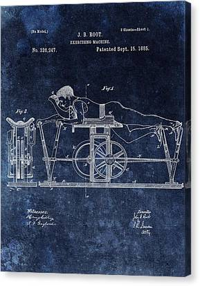 Nike Canvas Print - 1885 Exercise Machine Patent by Dan Sproul