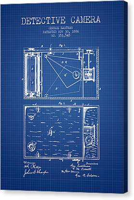 1886 Detective Camera Patent - Blueprint Canvas Print by Aged Pixel