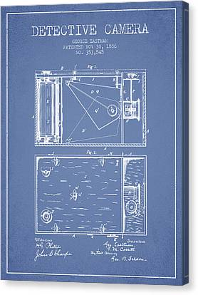 1886 Detective Camera Patent - Light Blue Canvas Print by Aged Pixel