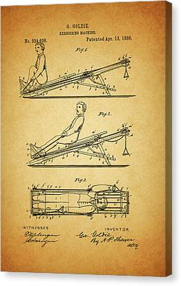 1886 Exercising Machine Patent Canvas Print by Dan Sproul