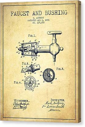 1886 Faucet And Bushing Patent - Vintage Canvas Print