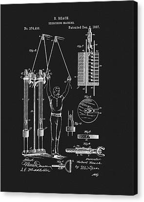 Nike Canvas Print - 1887 Exercise Apparatus Patent by Dan Sproul