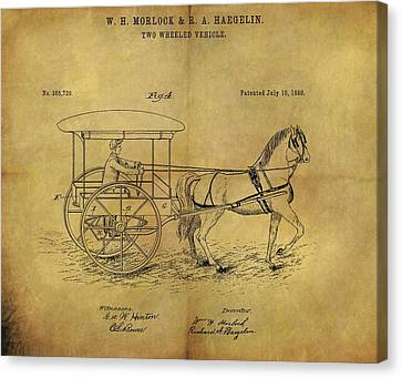 1888 Horse Carriage Patent Canvas Print