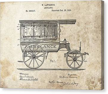1889 Ambulance Patent Canvas Print by Dan Sproul