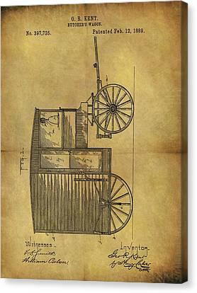 1889 Butcher's Wagon Patent Canvas Print