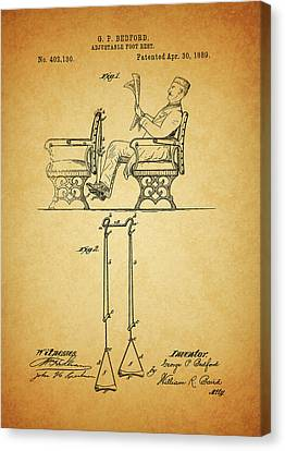 1889 Foot Rest Patent Canvas Print