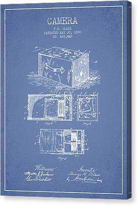 1890 Camera Patent - Light Blue Canvas Print by Aged Pixel