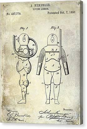 1890 Diving Armor Patent Canvas Print