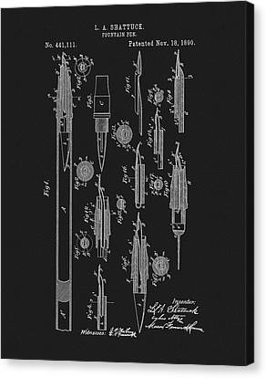 1890 Fountain Pen Patent Canvas Print by Dan Sproul