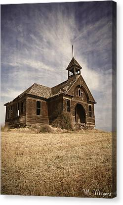1890 School House Canvas Print by Melisa Meyers
