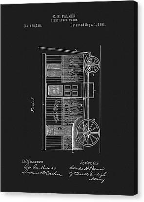 1891 Night Lunch Wagon Patent Canvas Print
