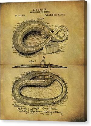 1892 Horse Race Course Canvas Print