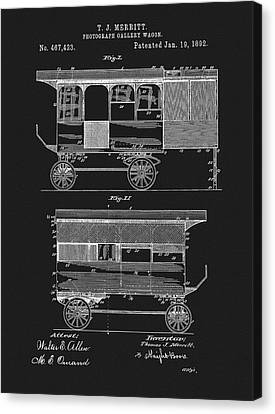 Wagon Canvas Print - 1892 Photography Wagon Patent by Dan Sproul