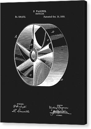 1893 Boat Propeller Patent Canvas Print by Dan Sproul