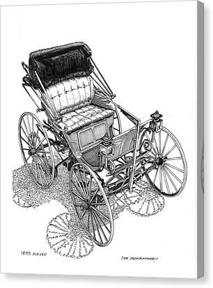 1893 Duryea Motor Wagon Canvas Print by Jack Pumphrey