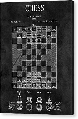 1893 Strategy Game Chess Patent Canvas Print