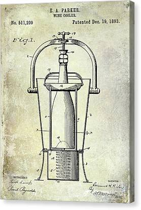 1893 Wine Cooler Patent Canvas Print by Jon Neidert
