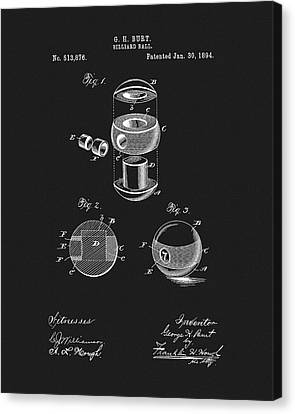 Rack Canvas Print - 1894 Billiards Ball Patent by Dan Sproul
