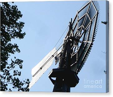 Canvas Print featuring the photograph 1894 Bronson Windmill Gears by Margie Avellino